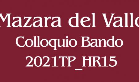 Comunicazione colloquio Bando 2021TP_HR15 sede di Mazara del Vallo